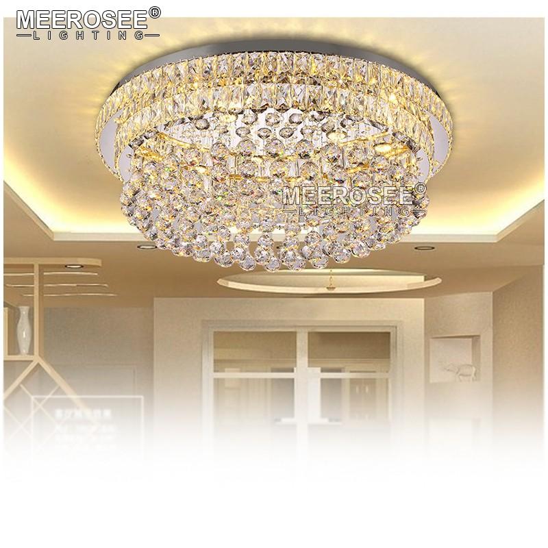 forma de flor de lujo candelabros de cristal lustre del hotel sala de estar lmpara lmparas