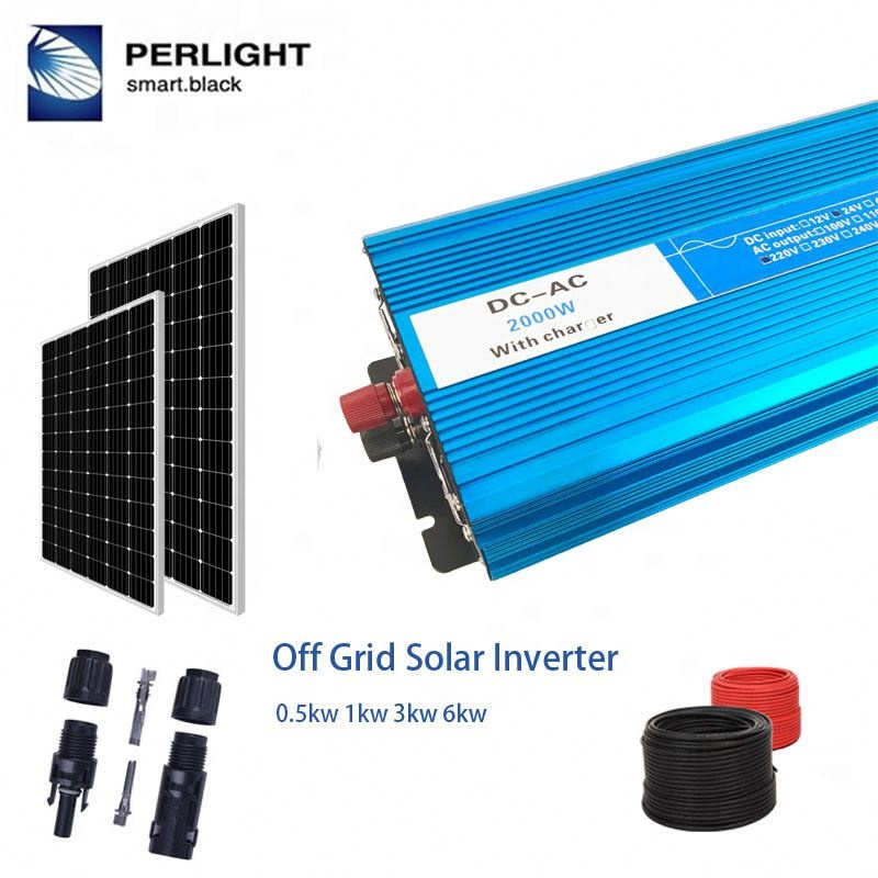 Easy Install Power Inverter 2500 Watt Off Grid <strong>Solar</strong> System Home Use Paneles Solares 2500W 2500 Watt System