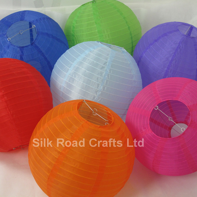 Round ball shape electric paper lantern for decoration