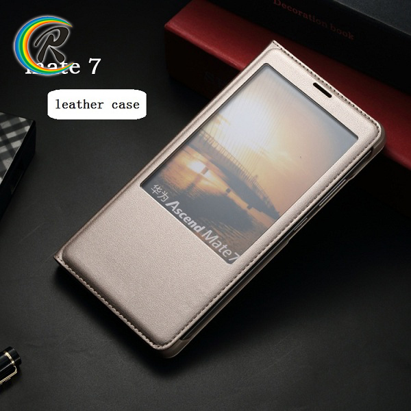2017 hot new products pu flip leather case cover for Huawei mate 7 leather case