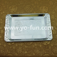 JGJ010 stainless steel pizza serving plate