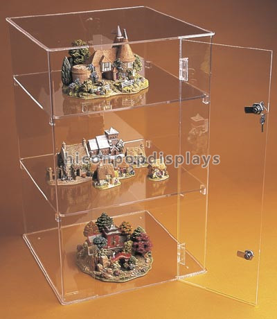 New Lockable Counter 3-Layer Pure Acrylic Toy Car Display Cases, Model Trian Hot Wheels Display Case
