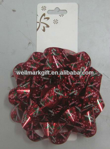 Glossy Lacquer Poly Ribbon Everyday Gift Package Star Bow