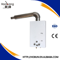 Cheap price 10L balance exhaust type tankless gas water heater with knob control for Russia/Georgia/Ukraine