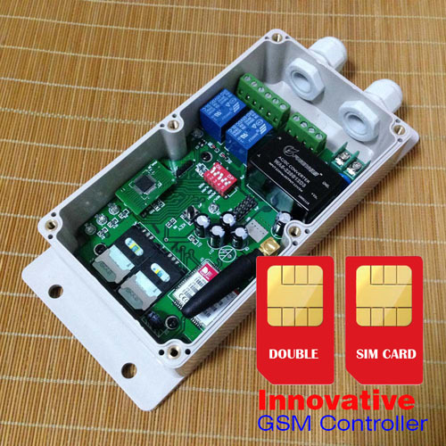 Double SIM card GSM relay control box for electric gate opener