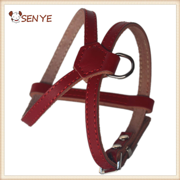 Hot Selling Pet Dog Products High Quality Manufacturers Service Leather Metal Dog Harness