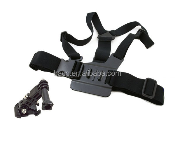 GP25 sport camera accessory PC Material Chest Body Strap with 3-way adjustment base