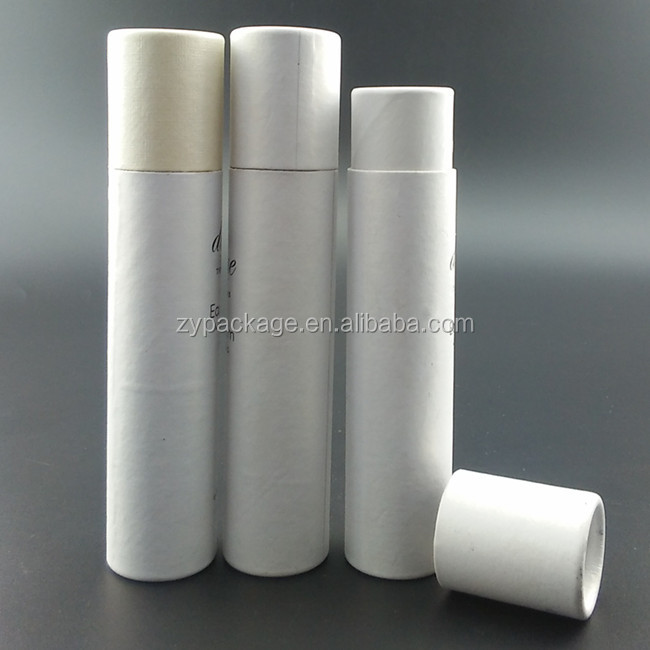 Custom slim cylindral paper tube for lip stick tube packaging box