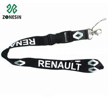Wholesale Silk Screen Polyester Safety Breakaway Neck Lanyard Strap for Car Key