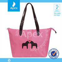 2014 hot sale fashion waterproof folding nylon tote bag