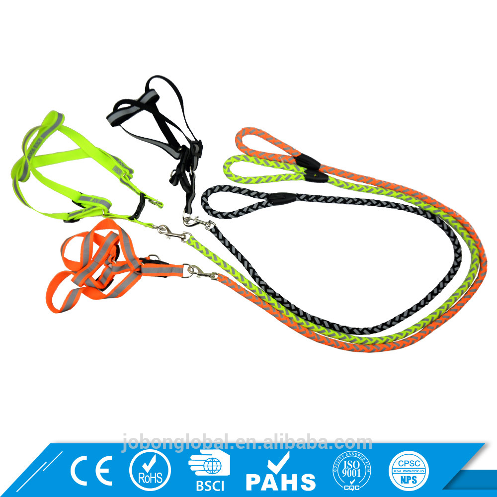 Customized 3-Sizes Multicolored pet collar big dog leash chain