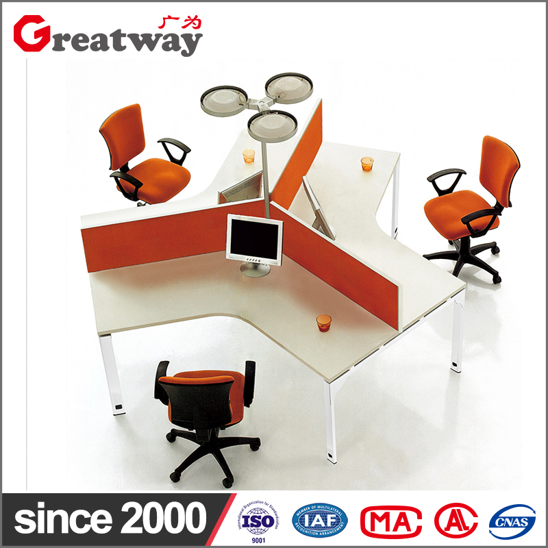simple office workstation for 3 person office furniture clover design staff tables