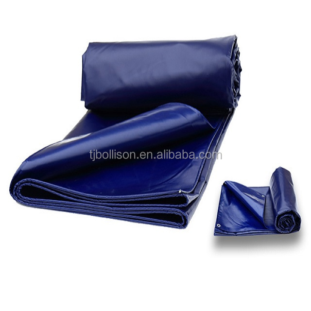 Custom 1000D 18OZ Fire Retardant PVC Tarpaulin ,Extra Heavy Duty 610gsm Reinforced PVC Coated Polyester Fabric