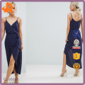 custom make wave point hot night dress,spaghetti strap sexy ladies without dress