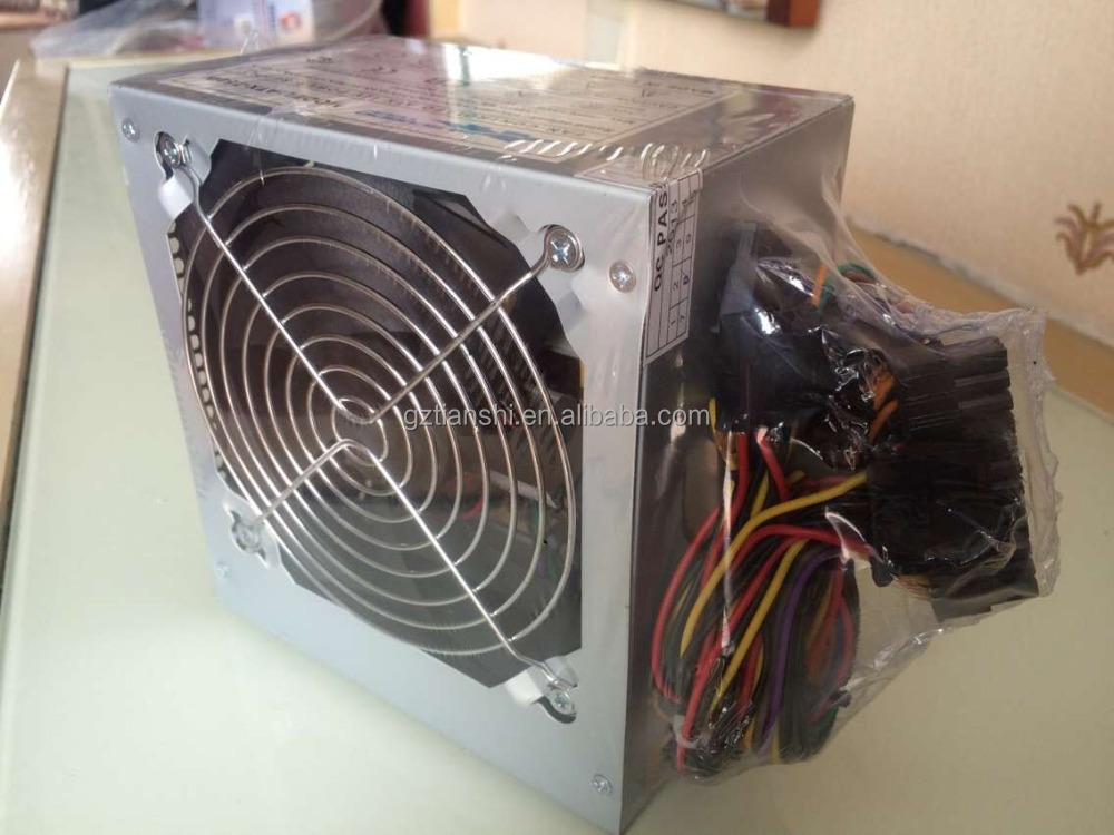 ATX computer power supply with 12cm big black fan
