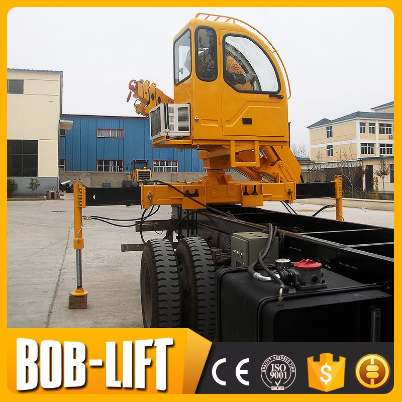 10 ton floding arms telescopic boom lorry loading crane