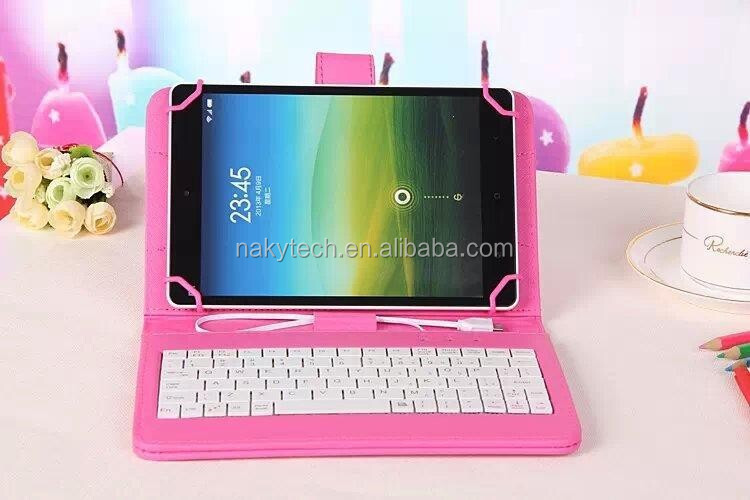 "7""&8""&9"" Universal Tablet Case PU Leather tablet keyboard case"