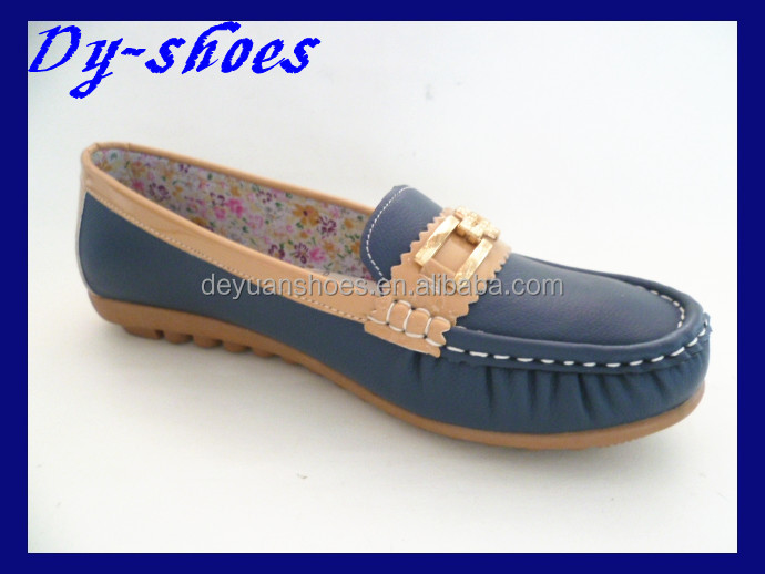 fashion cheap high quality moccasin shoes for ladies