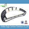 Half round big round rattan outdoor furniture garden wicker material sofa set for wholesale with competitive price