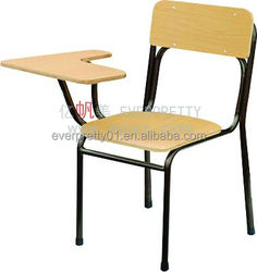 Training Classroom Combo Chair With Writing Pad Student Tablet Chair