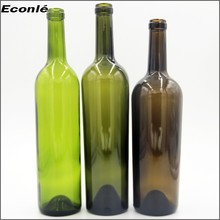 Classical glass bottles for champagne and red wine