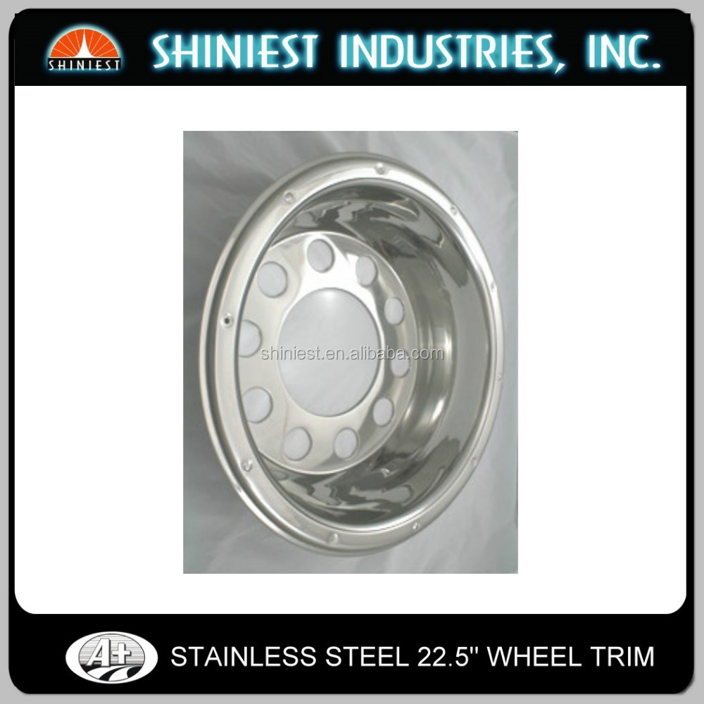 Hot sale high gloss polished shining stainless steel truck and bus wheel cover
