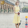 Bold Angula Stripes or colourful confetti prints MARA 2016 new fashion lady dress