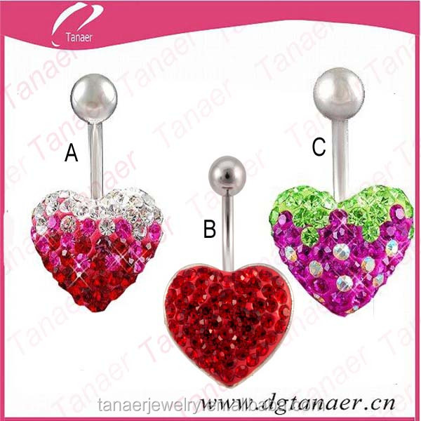Stainless steel make free ferido navel belly button rings
