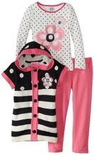 Simple Design Girl Child Clothes Matching Children Clothing Suits For Wholesale