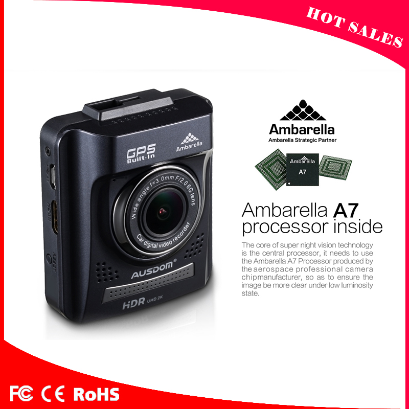 "2.0"" TFT LCD display Mini Car Camera DVR Full hd 1080p, Ambarella A7LA50 Gps Speed Alarm G-sensor"