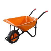 Orange color wheel barrow wb5009 with large capacity