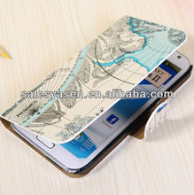 For samsung galaxy note 2 leather wallet case