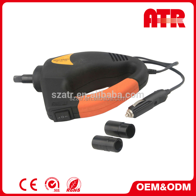 China supplier 17/ 19mm, 21/ 23mm double socket car 12v electric impact wrench