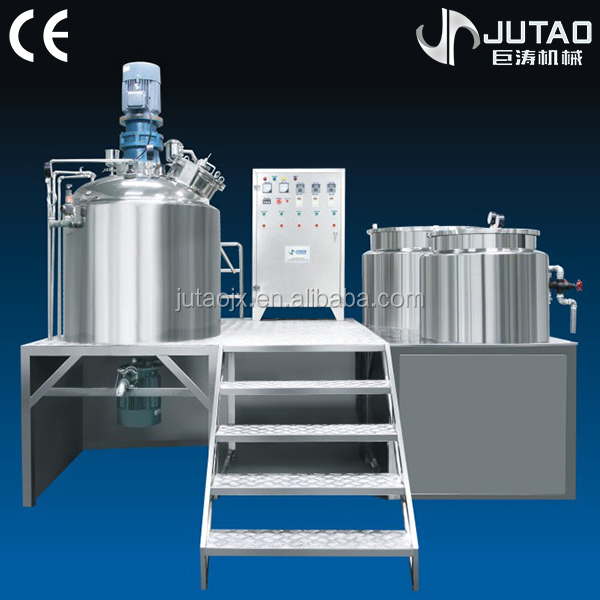 Fix-type vacuum homogenizer cosmetic cream mixer for daily use chemical products
