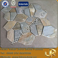 Beige slate interlocking random pattern tile