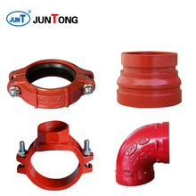 flexible coupling grooved pipe fittings assembly