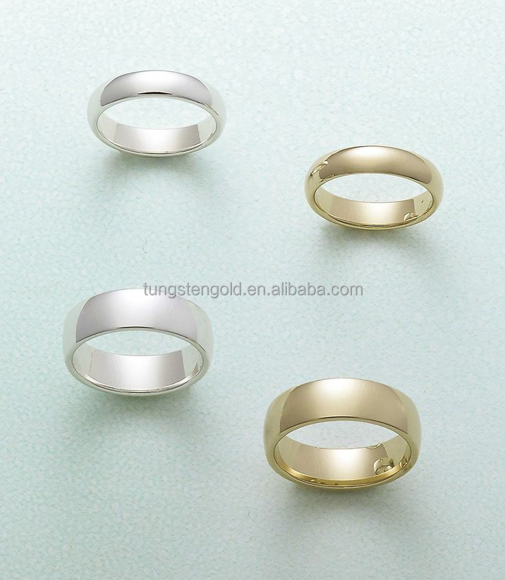 mens titanium & stainless steel ring blanks white and gold plated