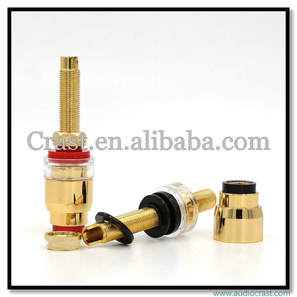 24k Gold Plated Binding Post female connector for 4MM banana