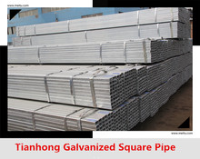 BS1387 40X40 Galvanized square pipe