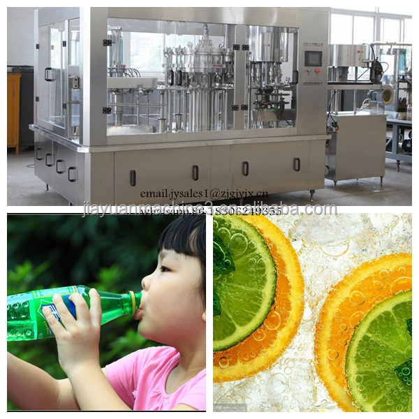 Automatic carbonated beverage production line / 3-in-1 soft drink filling machine