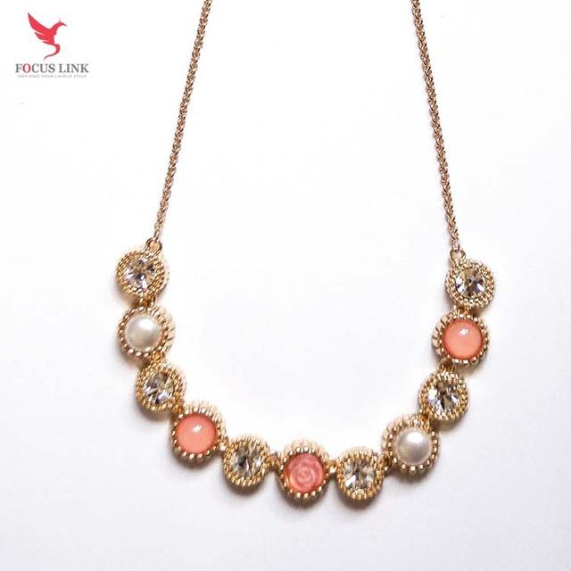 Wholesale Gemstone Diamond Necklace Women Jewelry