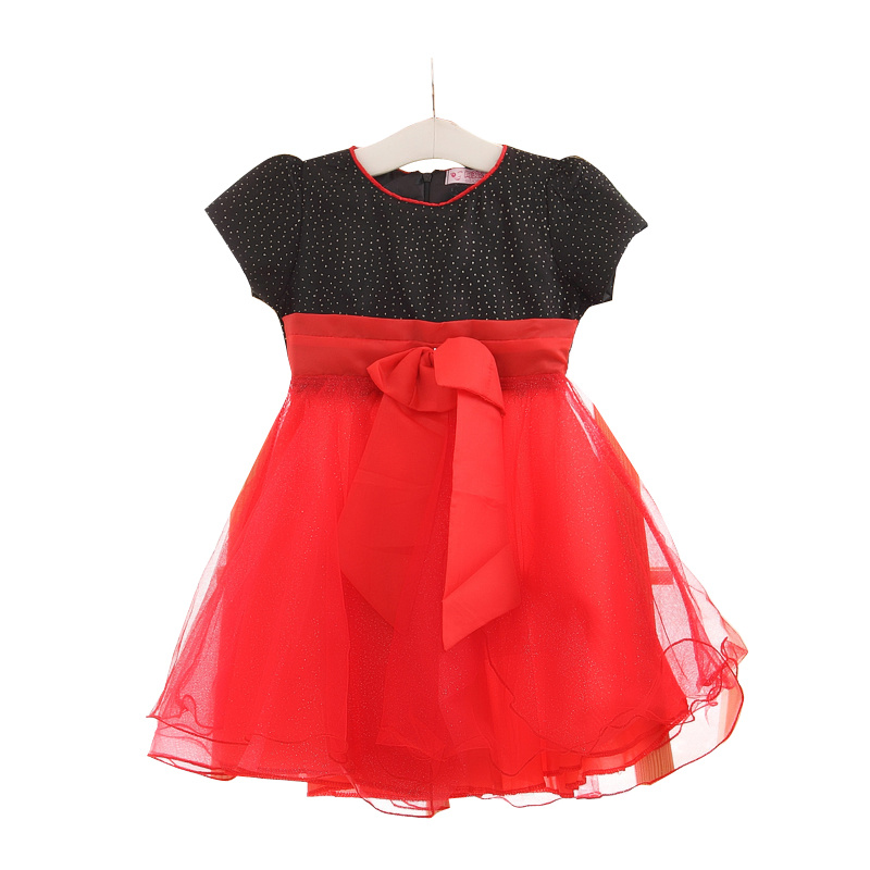 Summer Princess Bownot Tutu Dress Simple Design Kids Girls Frock
