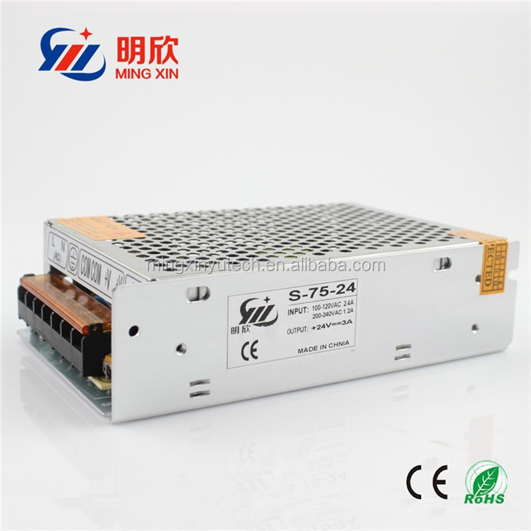 72W 24V 3A model Industrial Switching AC/DC Power Supply 24 volt switching power supply,(5v 12v 15v 24v 48v) constant Voltage
