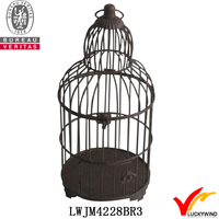 hanging container gardening antique bird cages design