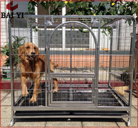 Steel Folding Dog Cage And Indoor Metal Dog Run With Cheap Price