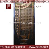 High End Copper Embossed Metal Doors Price