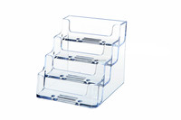 4 Tier 4 Pocket Countertop Card Holder (Landscaped) Clear