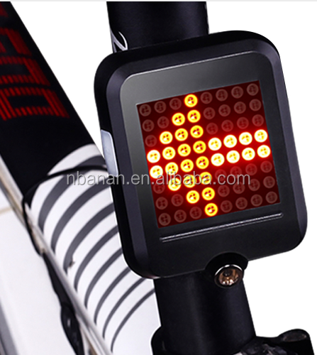 Bicycle Light Automatic Direction Indicator Taillight USB Charging MTB Bike Safety Warning Light