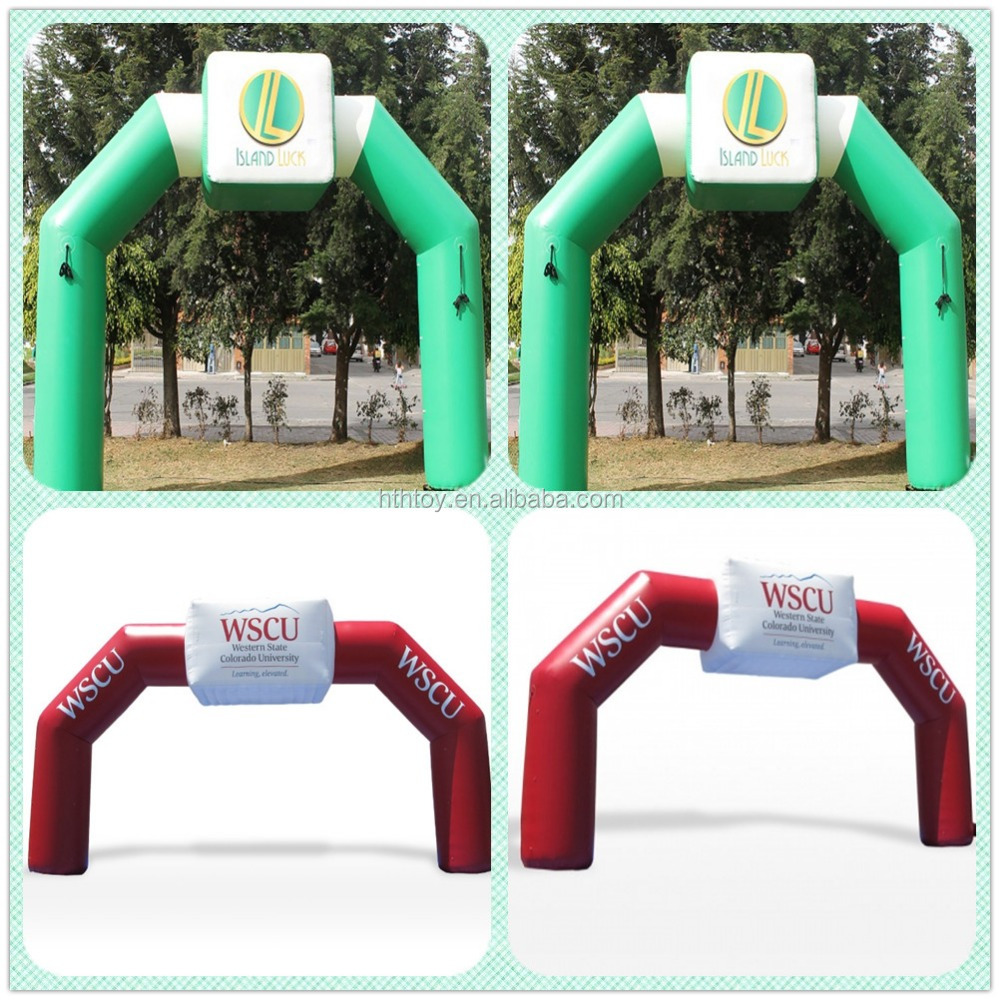 Green color customized logo inflatable event arches