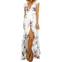 Free Shipping Hot Sexy Deep V Neck Backless Dress Womens Party Club Sheath Print Sleeveless Zippers Dresses High Quality 2017